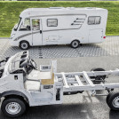 The Hymer ML-I based on Sprinter (in the back) and Sprinter platform chassis (in the front)