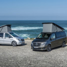 The New Marco Polo ACTIVITY – 220 CDI, Exterior, brilliant silver metallic (left) and the new Marco Polo– 250 BlueTEC, Exterior, indium grey metallic (right)